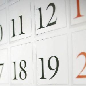 Imagen de una hoja de calendario